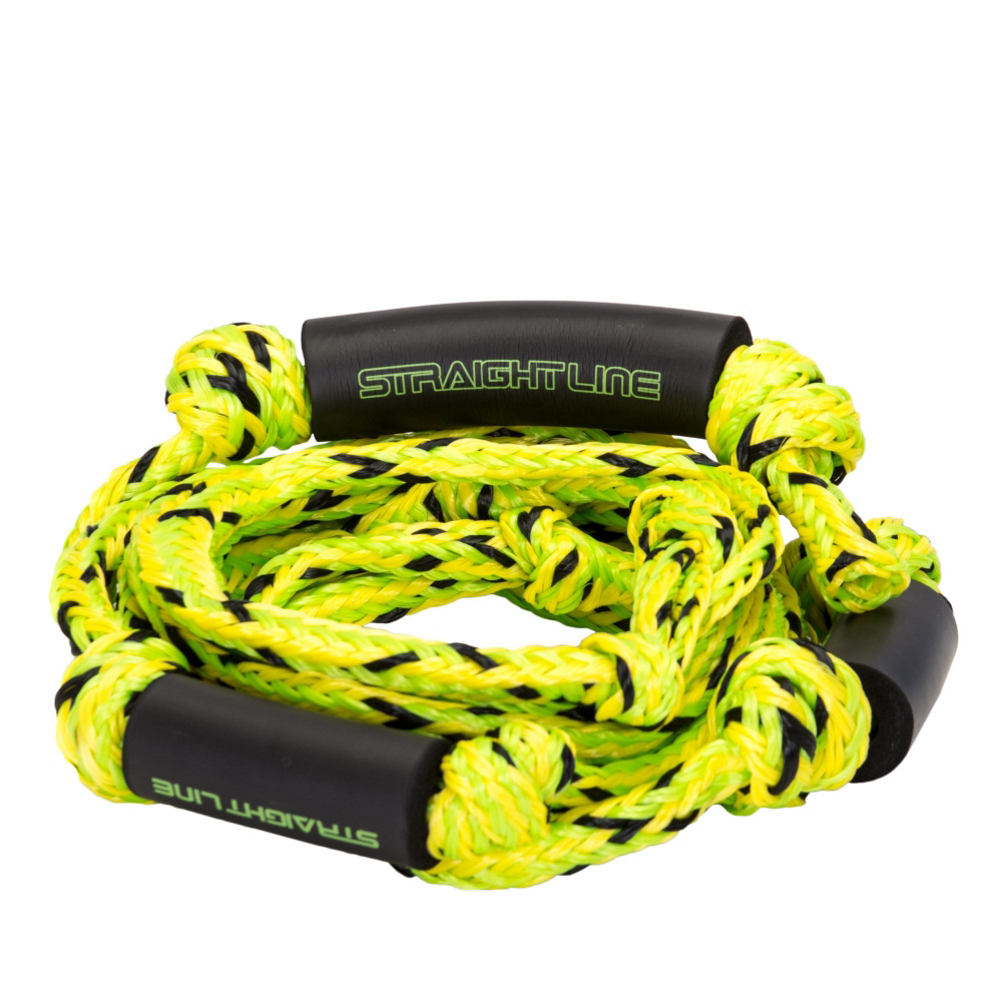 straight line knotted surf rope wakesurf rope 2017- Save 15% Off - Once you find the Sweet Spot you will be in the Sweet Spot all day long as you use and experience this Straight Line Knotted Surf Rope on any water surface of your choosing. This knotted surf rope has extra grip from the start as well as quick and easy adjustments due to the four 3 inch sections to the line that can be shortened to your liking. The four sections will be long enough for you to master your front and backside turns as well as your line riding with precision and ease. This rope combo is also visible in the water, durable and lightweight and is the king of all ropes. The ideal choice for you to enjoy your water activities this summer and many more with friends, with no worries, while you capture the attention of the watchers that are on shore as they watch in amazement as you make wake surfing look easy while you nail each of your tricks over and over all summer long.  Knotted Design,  Polypro Main Line,  EVA Floats,  Type: Wakesurf, Model Year: 2017, Product ID: 425558, Model Number: 2149037, GTIN: 0013576490373