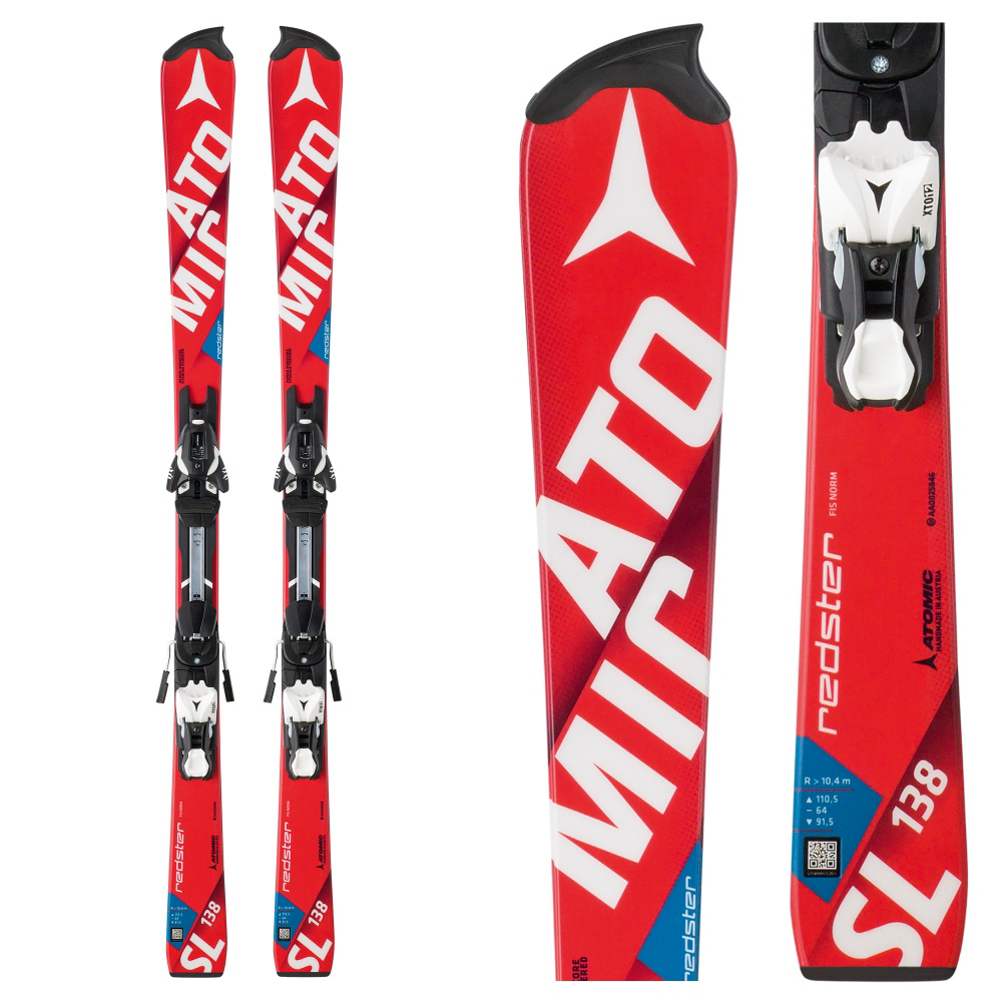 Atomic Redster FIS SL Junior Race Skis with XTO 12 Race Bindings