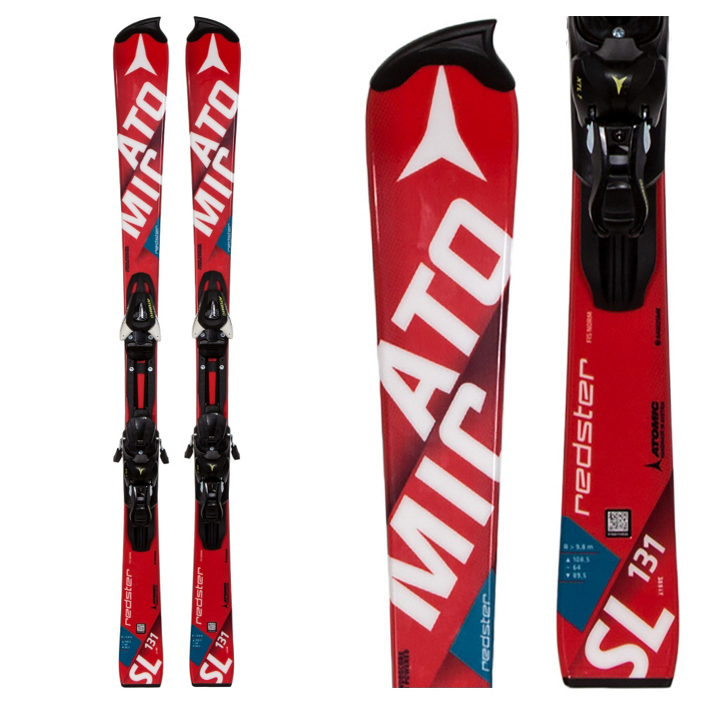 Atomic Redster FIS Jr. SL Junior Race Skis with XTL 7 Bindings