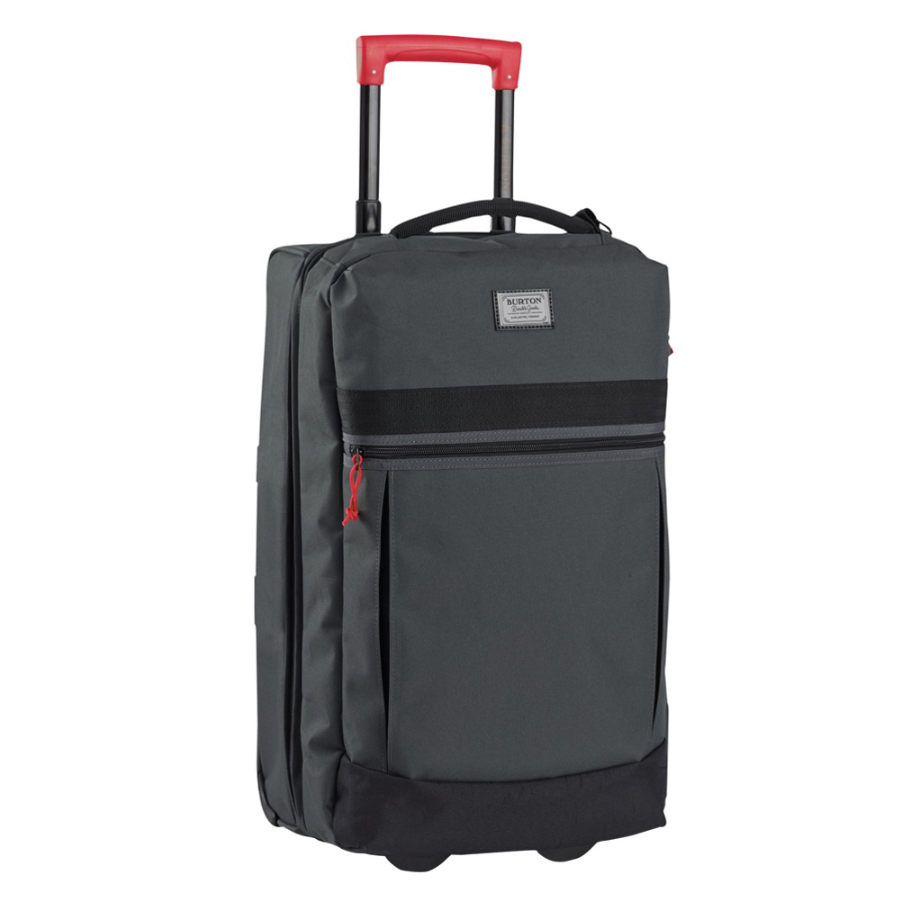 burton charter roller bag 2018- Save 18% Off - Pack light and carry it on or pack it to the brim and check it, an expandable design makes the Burton Charter Roller Bag ideal for any excursion. Expanding from 45L to 60L gives you two bags in one with plenty of room to bring everything you need for a week-long trip. Its 50/50 split construction with internal fabric dividers allows for maximum organization, while the exterior zippered pocket safely stashing items you need on the fly, like travel documents and magazines. Side compression straps help cinch everything down and a telescoping handle makes running to your gate a breeze. Versatility and durability, the Burton Charter Roller is the only bag you will ever need.  Expandable Design from 45L (Carry-On) to 60L (Check),  50/50 Split,  Internal Fabric Dividers,  External Zippered Pocket,  Side Compression Straps,  Lockable, Contoured Zipper Pulls Fit TSA-Approved Locks,  ID-Tag Included,  Warranty: Lifetime, Material: 600D Polyester with TPE Backing, Airplane Carry-On: Yes, Weight of Bag: 5.7 lbs, Exterior Pockets: Yes, Size Dimensions: Carry On: 22in x 13in x 11in - Expanded: 22in x 13in x 14.2in, ID Tag: Yes, Interior Mesh Pocket: No, Gear Volume: 60L, Luggage Style: Wheeled Luggage, Model Year: 2018, Product ID: 429317, Shipping Restriction: This item is not available for shipment outside of the United States., Model Number: 11605102870, GTIN: 0632059948905