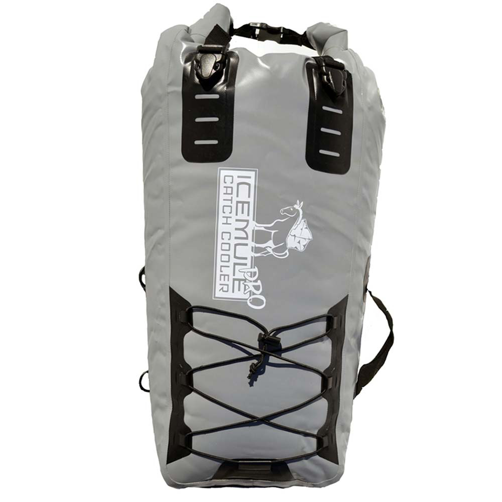 ice mule coolers pro catch cooler- Save 25% Off - The IceMule Pro Catch Cooler Fishbag gives you tough and simple access for stowing and keeping your catch fresh. The Pro Catch Cooler is made of tough denier material in and out and with its PolarLayer insulation it claims to hold ice for up to 24 hours. The cooler features clips, straps and bungees all over so you can easily secure it to wherever you like. The IceMule Pro Catch Cooler is perfect for kayakers and small boats and rafts. Dimensions listed are representative of the cooler during use with the roll-up closure properly closed.  Deck mounted fish cooler,  TriFold DriTOPTM System seal to keep ice in and air out,  Keeps ice intact and contents IceMule Cold for up to 24 hours,  Padded carrying strap, multiple tie-down clips, bungee webbing for gear/paddle,  Easy to clean,  Length: 22 in; 32 in; 42 in,  Width: 19 in.,  Material: 1000 Denier Nylon,  Model Year: 2016, Product ID: 429761, Model Number: 1204, GTIN: 0853806004198