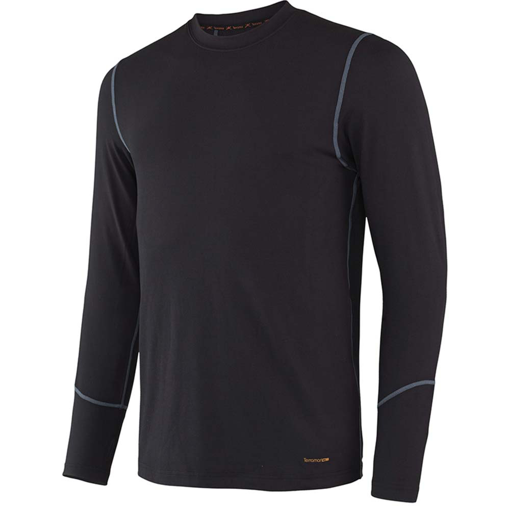 Terramar Thermolator Crew with Mesh Mens Top