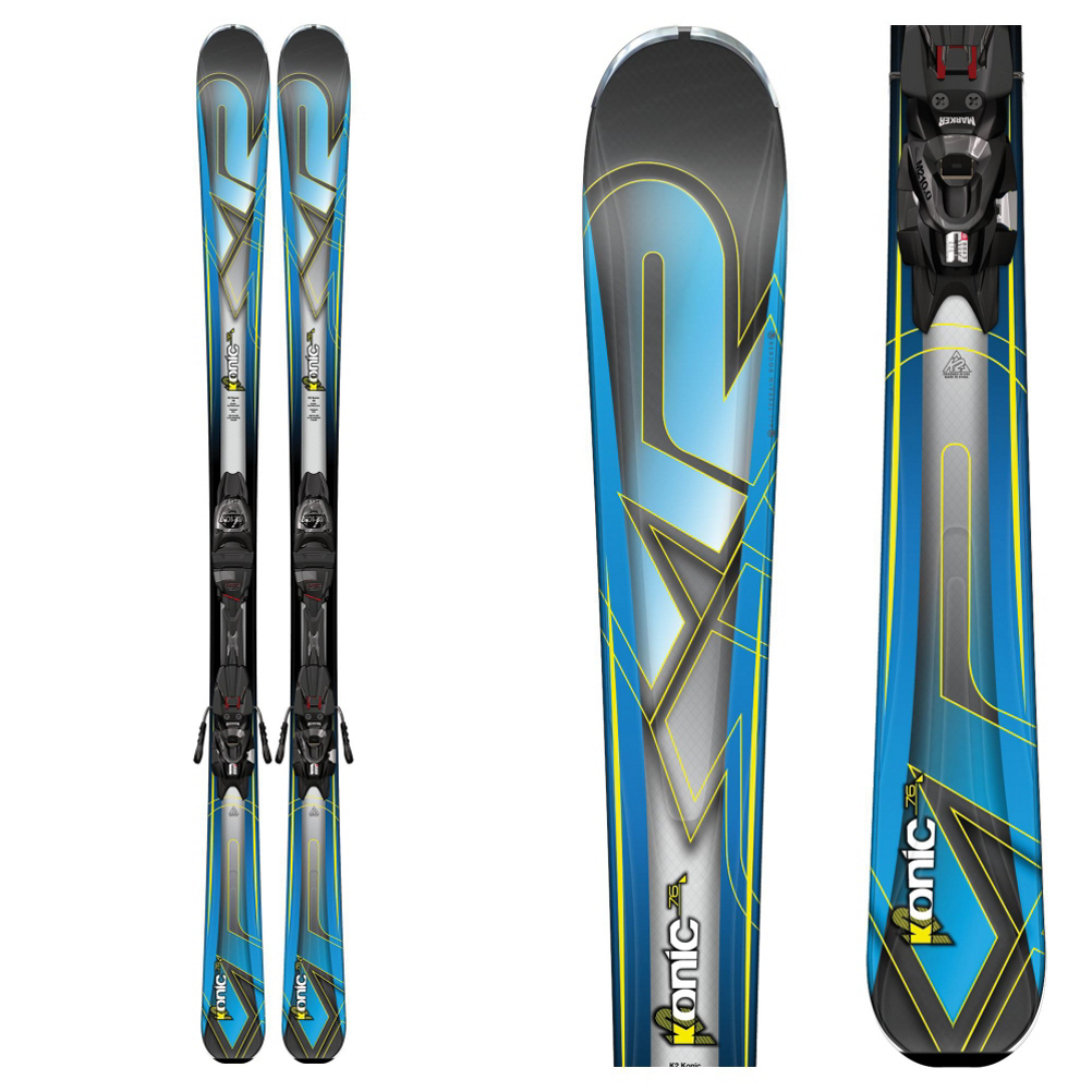 K2 Konic 76 Skis with Marker M2 10 Bindings