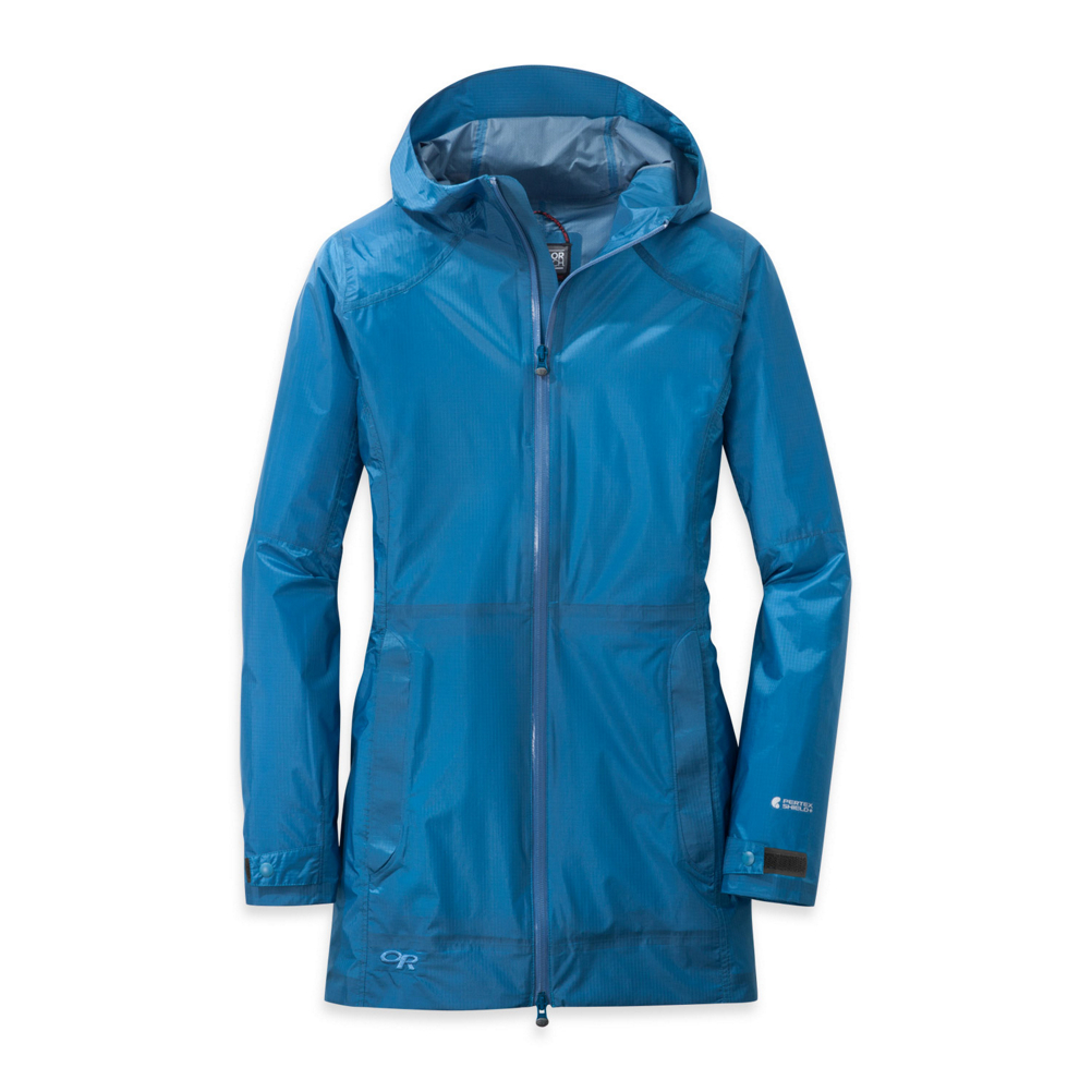 outdoor research helium traveler womens jacket- Save 49% Off - New from Outdoor Research is the Helium Traveler Jacket; created for the puddle jumper in all of us. This lightweight, compressible jacket features 100% waterproof Pertex Shield+ fabric and a longer length for more coverage. All zippers are waterproof with a double-separating center front zipper for comfort and ventilation. Fully laminated construction plus Pertex fabric makes this jacket windproof as well. And this jacket wouldn't be named the Traveler for nothing; the left-hand pocket doubles as a stuff sack so you can quickly and easily stash your jacket in a pack or purse for the day's adventure.  Waterproof, Breathable, Windproof,  Lightweight, Fully Seam-Taped, Laminated Construction,  YKK Aquaguard Zippers, Internal Front Stormflap,  Fully Adjustable Hood,  Zip Hand Pockets, Left-Hand Pocket Doubles as Stuff Sack with Carabiner Loop and Key Clip,  Double-Separating Center Front Zipper, Tab and Snap Cuff Adjustment,  Center Back Length: 31 1/2in,  Exterior Material: Pertex Shield+ 2.5L: 100% Nylon 30D Ripstop, Type: Shell, Jacket Fit: Slim / Regular, Length: Long, Insulation Type: None (Shell), Waterproof: Moderate Waterproofing (10,001 - 15,000mm), Breathability: Moderate Breathability (10,001 - 15,000g), Waterproof Zippers: Yes, Water Resistant: Yes, Recommended Use: Travel, Sun Protection: , Antimicrobial: , Anti Odor: , Insect Repellent: , Quick Drying: , Moisture Wicking: , Windproof: Yes, Anti Wrinkle: , Model Year: 2016, Product ID: 439299, Model Number: 244108-0373006, GTIN: 0727602384559, How Does This Fit?: True To Size, Warmth Factor: No Insulation, Wind Protection: Yes, Warranty: Lifetime, Taped Seams: Fully Taped