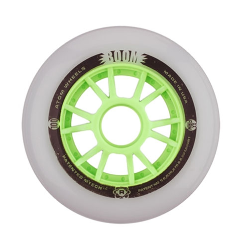 Atom Skates Boom 110mm Inline Skate Wheels 8 Pack