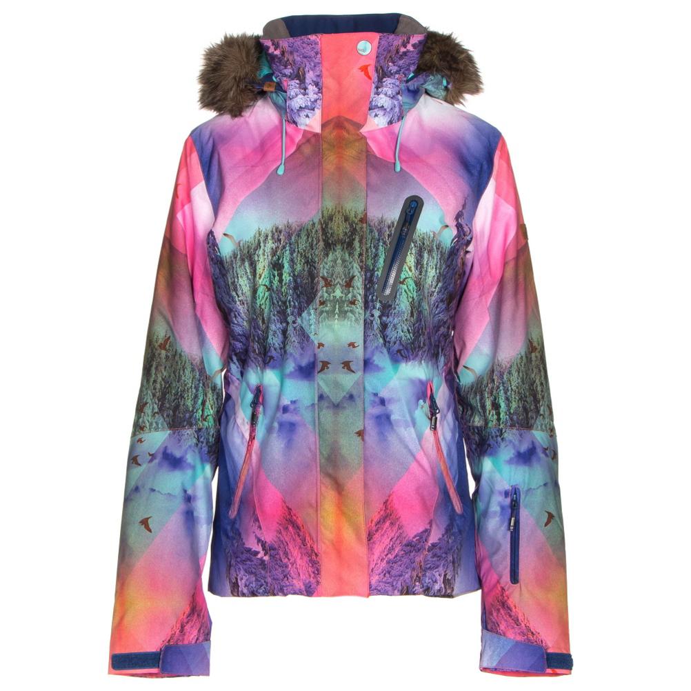 Roxy Jet Ski Premium w/Faux Fur Womens Insulated Snowboard Jacket