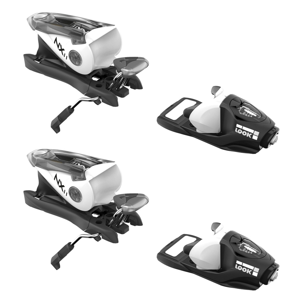Look NX 11 Ski Bindings 2018: Save 35% Off - The Look NX 11 is an excellent binding for the beginner to intermediate skier that is looking for a great value.  The wide heel piece creates an Easy Step-In, Easy Step-Out design that will keep you more comfortable on the slopes, even if you crash and lose a ski.  This lightweight binding utilizes the Full Action Toe Piece that delivers easy steering and control for you to have worry-free and total enjoyment on the slopes.  Easy Step-In, Easy Step-Out,  Lightweight,  Full Action Toe,  Warranty: One Year, Max Din Setting: 11, Binding Weight: 4.03 lbs./Pair, Recommended Weight Range: 85-230 lbs., Category: Downhill, Actual Din Range: 3.5-11, Ski Gear Intended Use: All Mountain, Skill Range: Beginner - Intermediate, Model Year: 2018, Product ID: 443919, Model Number: FCFA060, GTIN: 3607682038429