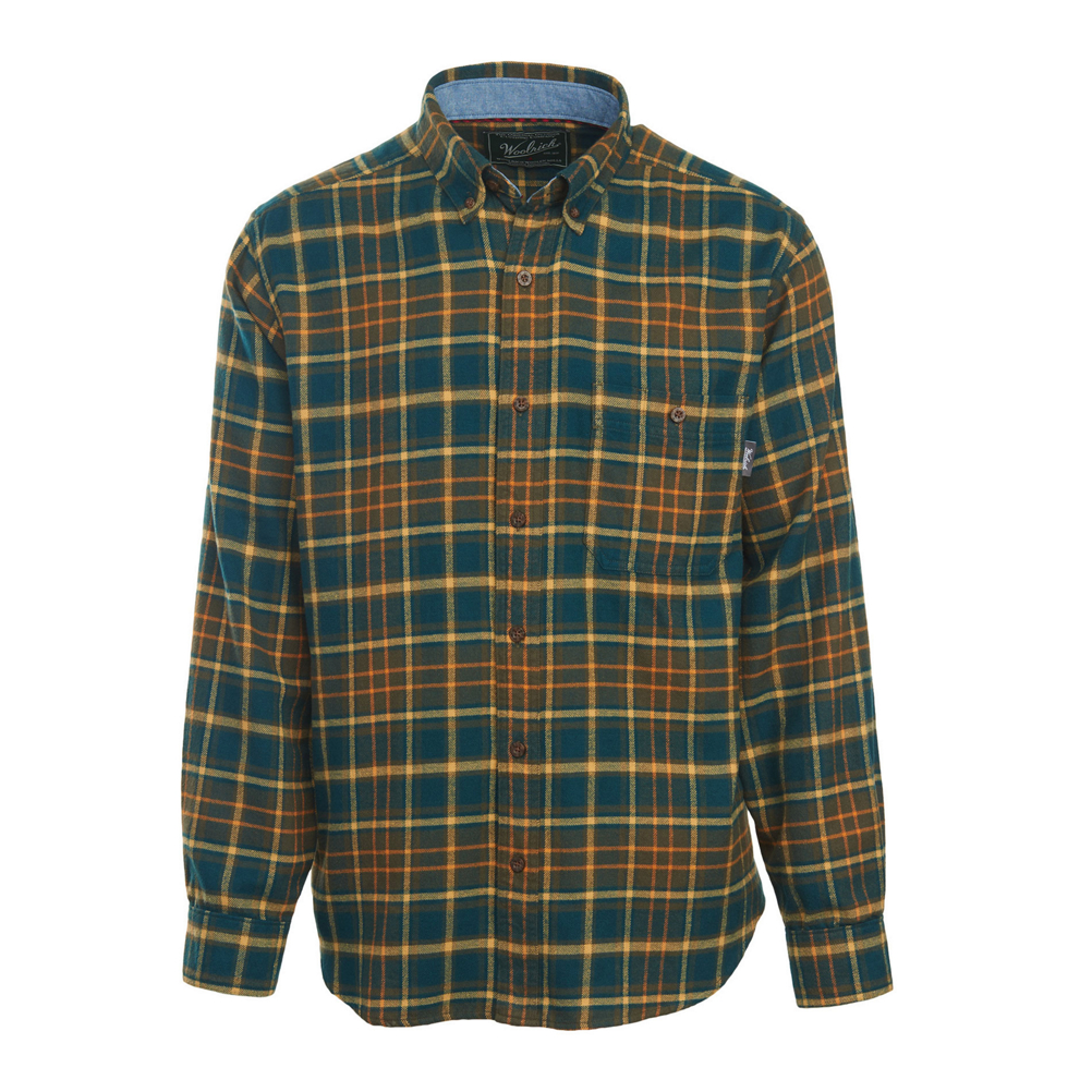woolrich trout run flannel flannel shirt- Save 36% Off - The Trout Run Flannel is a staple piece from Woolrich that offers unmatched comfort and versatility. Made of 100% cotton flannel and pebble-washed for softness, it features a button-down collar, chest pocket with nifty pen holder, and a chambray-lined inner collar.  100% Pebble-Washed Cotton Flannel,  Button-Down Collar,  Chest Pocket with Pen Holder,  Chambray Lined Inner Collar and Cuffs,  Pre-Shrunk,  Water Resistant: No, Recommended Use: Casual, Product ID: 446643, Model Number: 6280-ABS M, GTIN: 0728175479734, Model Year: 2017