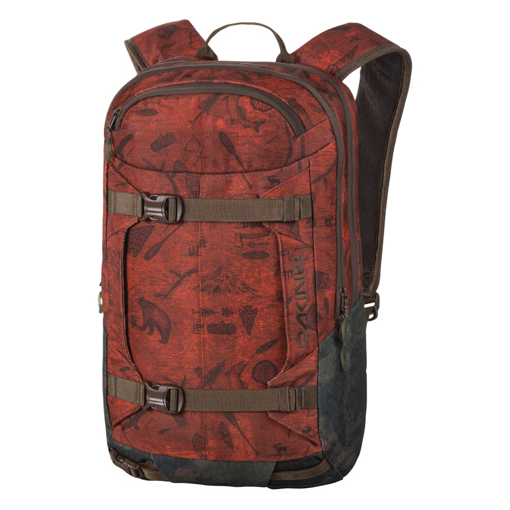 dakine mission pro 18l backpack- Save 35% Off - The Dakine Mission Pro 18L is the perfect sidecountry backpack for skiers and snowboarders looking to carry all necessary gear beyond the safety of the ski resort.  A Snow Tool/Shovel Pocket has the space for a probe and shovel so you can quickly access it if you need to.  A Vertical Snowboard, and Diagonal Ski Carry allow you to hike hands-free.  The Fleece Lined Goggle Pocket provides you with a safe and secure place for you to put your extra lenses.  Just in case you get into the deep woods or lost a Rescue Whistle is connected to the Sternum Strap.  Vertical Snowboard Copy,  Diagonal Ski Carry,  Fleece Lined Goggle Pocket,  Snow Tool/Shovel Pocket,  Supportive Padded Hipbelt,  Insulated Hydro Sleeve,  Non-Padded Sleeve Fits Most 15 Inch Laptops,  Rescue Whistle on Sternum Strap,  Goggle/Sunglasses Pocket: Yes, Ski/Snowboard Carry: Ski and Snowboard, Waist Strap: No, Hydration Compatible: Yes, Use: Snow, Material: 600D Polyester, Exterior Pockets: Yes, Padded Inside: Partially, Size Dimensions: 20X 12 X 5.5in., ID Tag: No, Gear Volume: 18L, Laptop Sleeve: Yes, Laptop Size: 15in, Model Year: 2017, Product ID: 453183, Model Number: 10000771 NORTHWOODS, GTIN: 0610934096408, Weight of Bag: 2.0 lbs, Warranty: Limited Lifetime