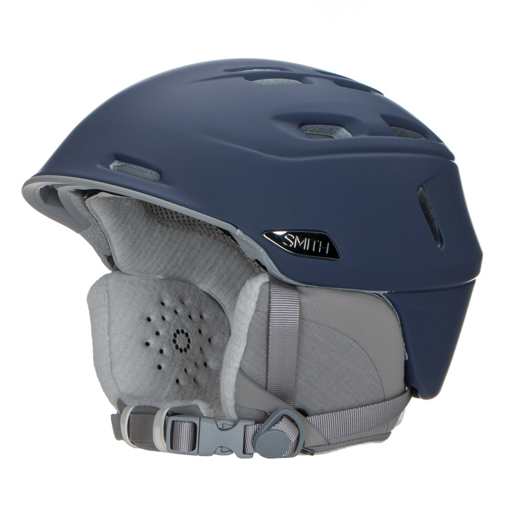 smith compass womens helmet- Save 32% Off - The Smith Compass has a great look and plenty of ventilation for any women looking for that perfect fitting and looking helmet.  The Adjustable Boa X Fit System has a dial on the back of the helmet that gets the fit perfectly snug on your head.  Smith's X-Static Performance Lining is not itchy on your head, and wicks away moisture if you start to get sweaty.  The AirEvac 2 Ventilation uses two vents located on the brim and channels that run through the helmet that keep air moving inside your goggles to prevent fogging, so you will always be able to see clearly on your way down the mountain.  A Low-Profile Regulator Adjustable Climate Control regulates the 20 vents to keep you cool if you start to overheat, and warm should you get cold.  In-Mold Construction,  Low-Profile Regulator Adjustable Climate Control,  20 Vents,  Adjustable Smith X Boa Fit System,  AirEvac 2 Ventilation,  16 oz,  Model Year: 2017, Product ID: 453243, Model Number: H17-CPMMSM, GTIN: 0715757516925, Shell Construction: In-Mold, Year Round Capable: No, Adjustability: Full, Ventilation: Adjustable, Brim/Visor: Yes, Audio: Audio Compatible, Category: Half Shell, Race: No, Warranty: One Year, Certifications: ASTM F 2040 CE EB1077:2007 Class B, SCPC CE EN 1078