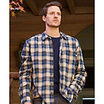 Purnell Blue Cream Plaid Flannel Mens Shirt