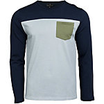 United By Blue Standard Long Sleeve Colorblock Pocket Mens Shirt