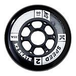 K2 Speed 90mm 85A Inline Skate Wheels - 4 Pack 2018