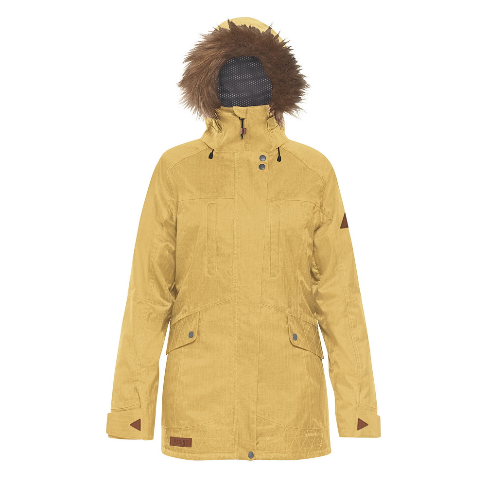 Dakine Brentwood with Detachable Faux Fur Hood Brim Womens Insulated Ski Jacket