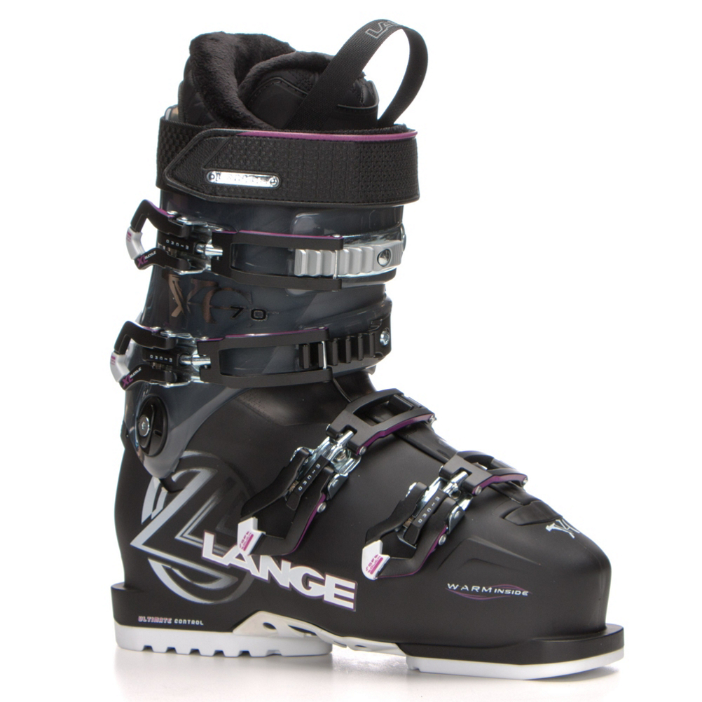 lange xc 70 w womens ski boots- Save 57% Off - The Lange XC 70 W makes a perfect option for intermediate to advanced skiers who have a medium to narrow forefoot shape, and medium to narrow leg shape.  The Control Fit Liner feels snug at first, but starts to conform to your foot quickly, after only a day or two on the slopes.  Lange's Power V-Lock Ski/Hike Mode gives you easy walking ability when you flip the lever located on the back of the cuff.  A Natural Stance is more upright to deliver more efficient and less fatigue while skiing, especially when you are riding on modern skis with rocker.  Ultra Grip Soles and Arches are made from thick rubber that provide you with great traction when you are walking on slippery surfaces.  A 35mm Power Strap keeps a snug wrap across your shin, while adding extra energy and rebound with each turn.  Best Fits a Medium to Narrow Forefoot, and Medium to Narrow Leg Shape,  Power V-Lock Hike/Ski Mode,  Natural Stance,  Control Fit Liner,  35mm Power Strap,  Ultra Grip Soles and Arch,  Actual Flex: 70, Cuff Alignment: Single, Warranty: One Year, Ski Boot Width: Medium (100-103mm), Flex: Stiff, Used: No, Ski/Walk: Yes, Forefoot Width: 102mm, Flex Adjustment: No, Buckle Count: 4, Category: Downhill, Ski Gear Intended Use: All Mountain, Instep Height: Standard, Calf Volume: Standard, Skill Range: Intermediate - Advanced, Model Year: 2016, Product ID: 459727, Shipping Restriction: This item is not available for shipment outside of the United States., Model Number: LBD8240 225, GTIN: 3607681618745