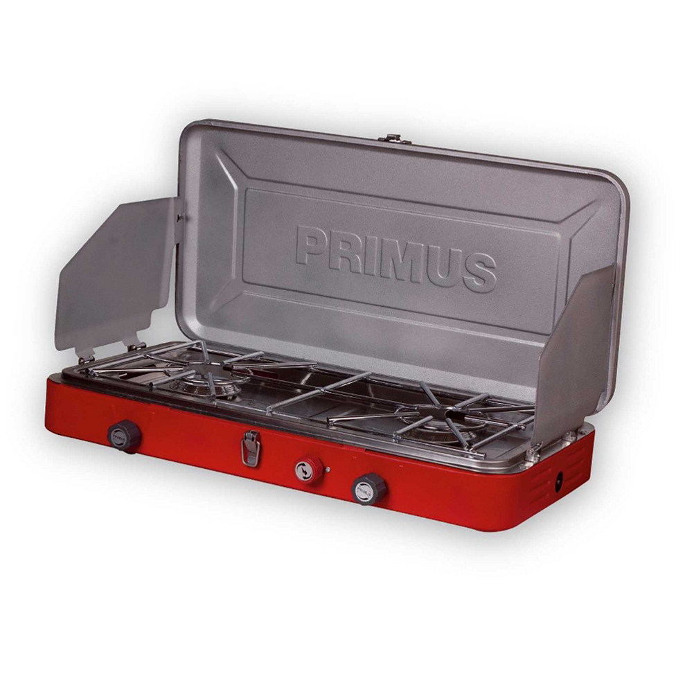 primus profile 2-burner stove 2017- Save 27% Off - From the backcountry to the backyard, Primus stoves have both the power and the precision to satisfy the demands of today's most demanding outdoor chefs. Profile stoves' high-output burners and exact simmer control deliver the utmost performance, while easy-click ignition and lock and carry handle makes for the ultimate in portability and trouble-free use. Fuel not included.  High Output Burners (2x3360 W (2x12000 BTU/h) Piezoelectric),  Exact Simmer Control,  Easy-Click Ignition,  Lock and Carry Handle,  Use: Car Camping, Serving Size: Group Cooking, Weight: 11.7 lbs., Dimensions: 23.2 x 3.9 x 12.6 in., Fuel Type: Isobutane Propane, Average Boil Time: 3 min., Auto Ignition: Yes, Model Year: 2017, Product ID: 459811, Model Number: P-329085, GTIN: 7330033329025