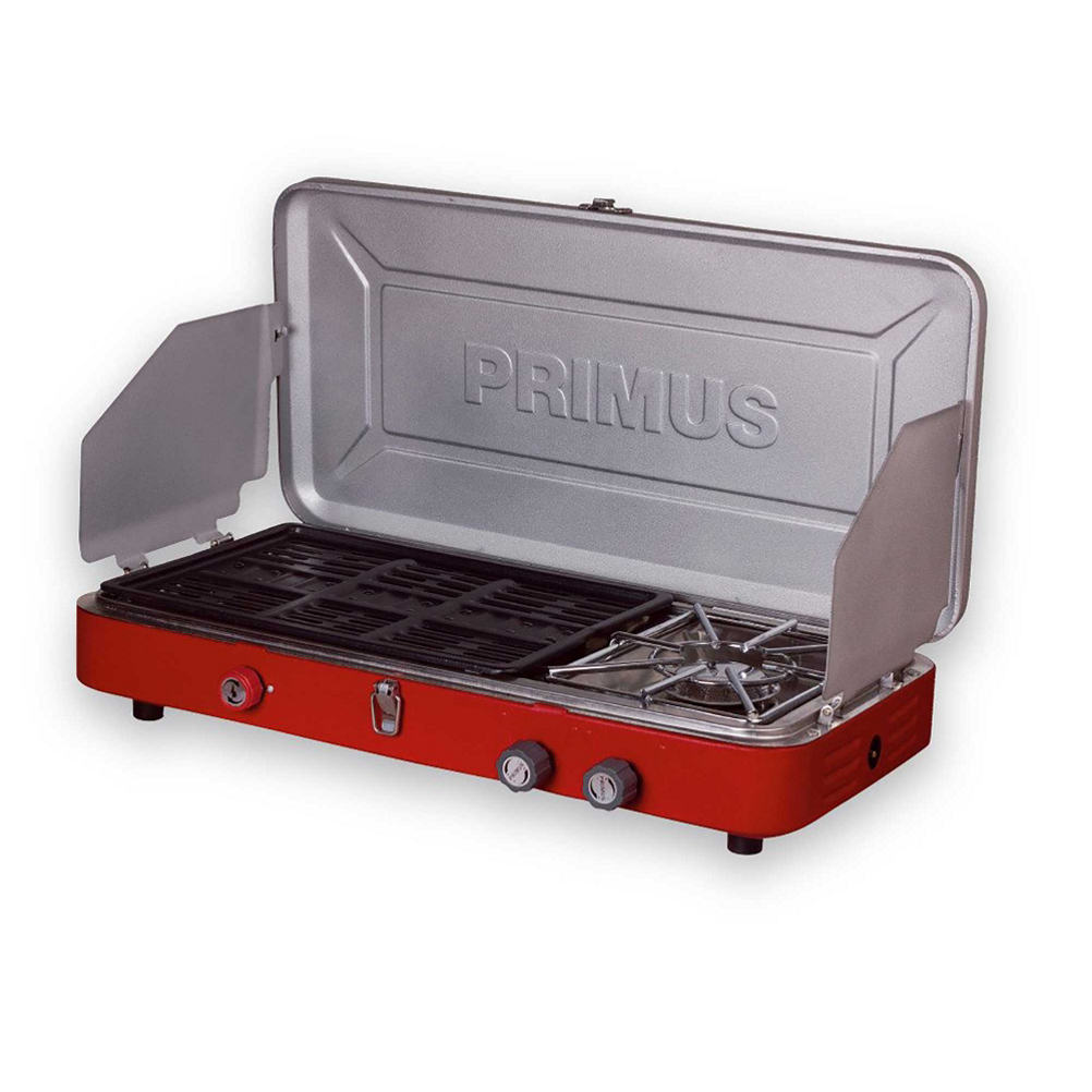 primus profile dual stove 2017- Save 19% Off - This stove is the perfect camper grill with one 3360 W burner and also a BBQ grill burner with stainless steel drip tray. The removable grill tray has a non-stick coating, which makes it easy to clean.  High Output Burners (3360+2850 W (12,000+9700 BTU/h) Piezoelectric),  Exact Simmer Control,  Easy-Click Ignition,  Lock and Carry Handle,  BBQ Grill Burner with Stainless Steel Drip Tray,  Non-Stick Grill Burner,  Use: Car Camping, Serving Size: Group Cooking, Weight: 11.9 lbs., Dimensions: 23.2 x 4.7 x 12.6 in., Fuel Type: Isobutane Propane, Average Boil Time: 3 min., Auto Ignition: Yes, Model Year: 2017, Product ID: 459812, Model Number: P-329285, GTIN: 7330033329216