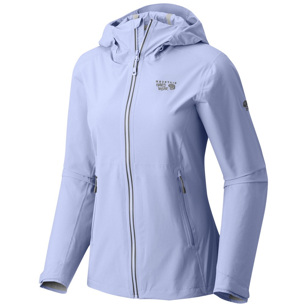 mountain hardwear stretch ozonic womens jacket- Save 25% Off - A shell designed for wet weather hiking, the Stretch Ozonic jacket is a 2.5 layer shell that features four-way, all-over stretch giving you incredible freedom of movement. The 40D face fabric makes this jacket light and durable while out on the trail. It's fully seam sealed for complete waterproof protection with an AquaGuard VISLON water-resistant front zipper with internal storm flap and welded watertight hand pockets will help to keep moisture out, even on the wettest of days.  Dry.Q Active's waterproof, breathable technology banishes moisture,  40D face fabric is light and durable,  Center-front AquaGuard VISLON zipper seals out moisture,  Pit zips provide ventilation where you need it most,  Fully seam sealed,  Velcro cuffs seal away elements,  Drawcord hem,  2-way adjustable hood features a bonded, structured brim to its shape,  Zippered handwarmer pockets are harness and pack compatible,  Exterior Material: Dry.Q Active Stretch 40D 2.5L - 100% Nylon, Taped Seams: Fully Taped, Waterproof Rating: 20,000mm, Breathability Rating: 10,000g, Warranty: Lifetime, Type: Shell, Jacket Fit: Regular, Length: Medium, Insulation Type: None (Shell), Waterproof: High Waterproofing (15,001 - 20,000mm), Breathability: Mild Breathability (5,001 - 10,000g), Waterproof Zippers: Yes, Water Resistant: Yes, Warmth Factor: No Insulation, How Does This Fit?: True To Size, Recommended Use: Hiking/Camping, Sun Protection: No, Antimicrobial: No, Anti Odor: No, Insect Repellent: No, Quick Drying: Yes, Moisture Wicking: Yes, Windproof: No, Anti Wrinkle: No, Model Year: 2017, Product ID: 464679, Model Number: 1572551583 S, GTIN: 0887487837417