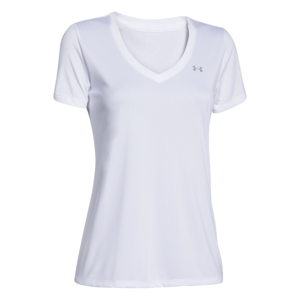 Under Armour Tech Solid V-Neck Womens T-Shirt 465771999
