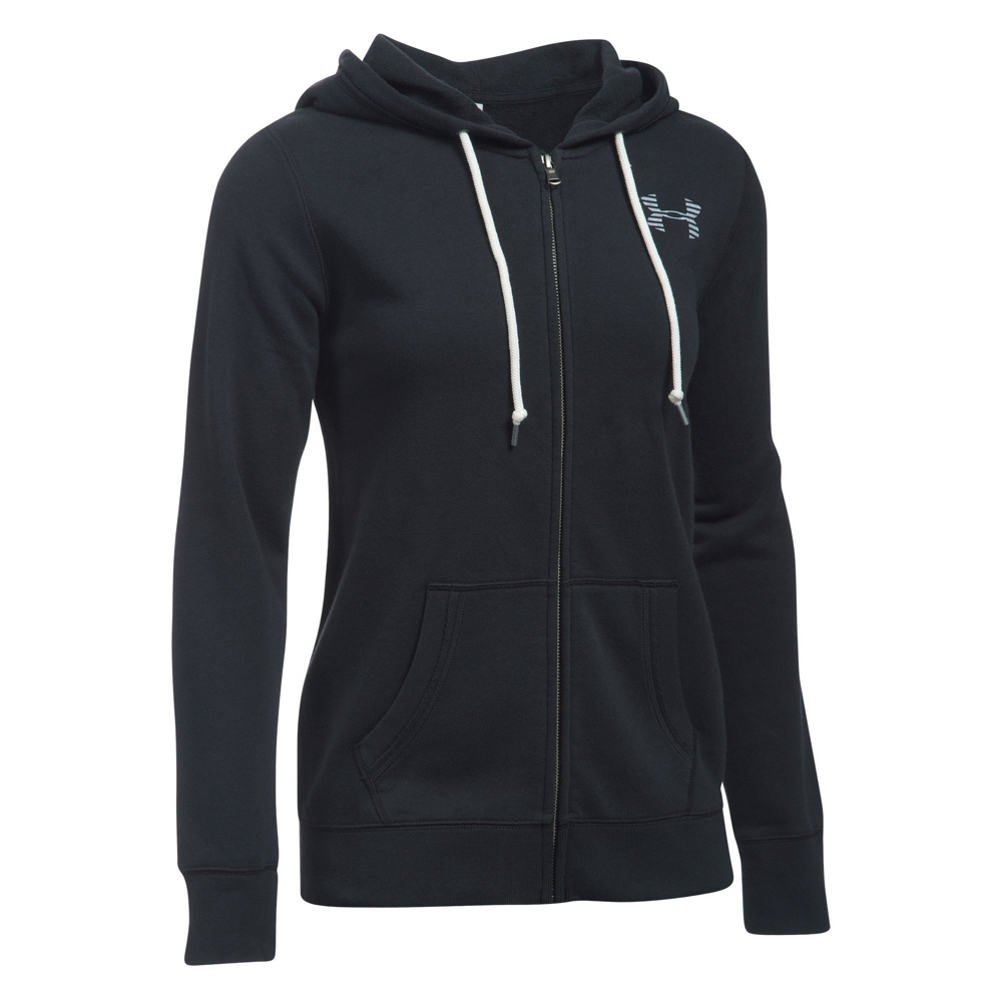 under armour favorite fleece full zip womens hoodie- Save 25% Off - The Under Armour Favorite Fleece Full Zip Hoodie is perfect for all seasons. It's a flexible fleece hoody that provides warmth and wicking without restricting movement. The fabric is designed to be quick drying and anti-microbial so you're sure to have a comfortable, dry experience no matter what the temperature. It's been equipped with an adjustable hood and zippered hand pockets for added comfort and secure storage. Perfect for cold weather runs, late night snuggles, or long days on the hill, the Under Armour Favorite Fleece Full Zip Hoodie is perfect.  Loose: Generous, more Relaxed Fit,  Signature Moisture Transport System,  Classic Front Kangaroo Pocket,  Ribbed Cuffs and Hem,  Material: Cotton/Polyester, Warranty: One Year, Closure Type: Full Zip Top, Type: Hoodie, Material: Cotton/Synthetic Blend, Wicking Properties: Yes, Sleeve Type: Long Sleeve, Recommended Use: Casual, Sun Protection: No, Antimicrobial: No, Anti Odor: No, Quick Drying: No, Moisture Wicking: Yes, Model Year: 2017, Product ID: 466093, Model Number: 1291744-001 S, GTIN: 0190085358568
