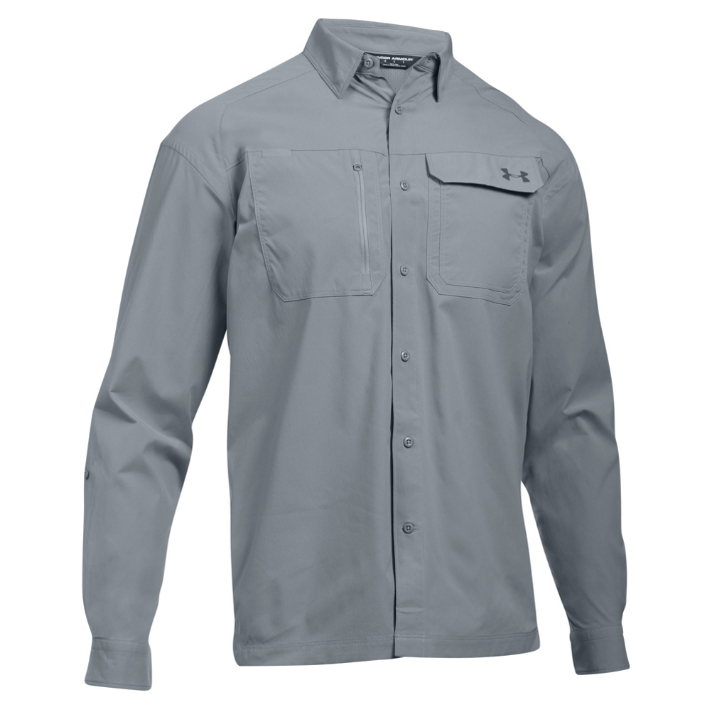 Under Armour Fish Hunter Long Sleeve Solid Mens Shirt 466136999