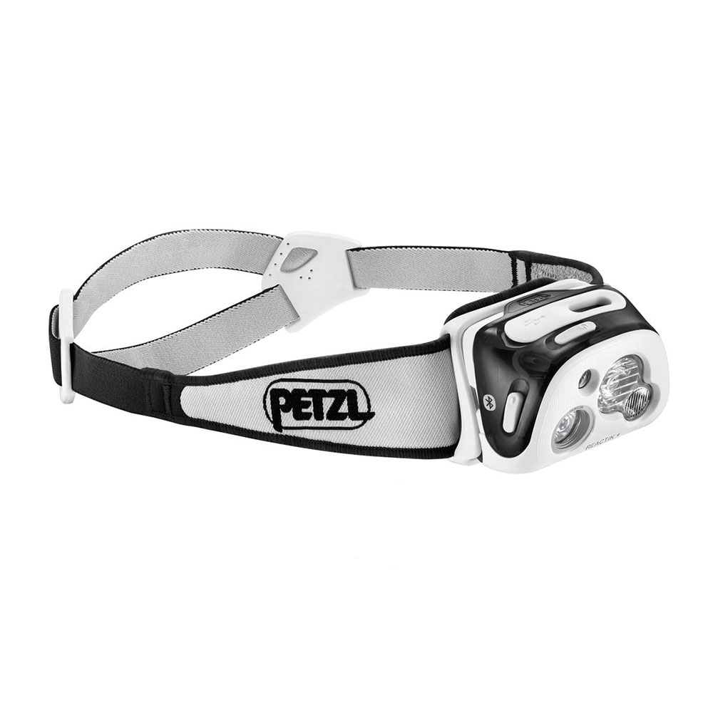 petzl reactik + headlamp 2017- Save 25% Off - The REACTIK + headlamp from Petzl offers outdoor enthusiasts a compact, programmable, rechargeable, intelligent solution to the traditional headlamp. Thanks to the MyPetzl Light mobile app, users can sync the REACTIK + to their smartphone or tablet at any time to check remaining battery life and adapt the REACTIK +'s performance to any activity from trail running to trekking and backpacking to mountaineering. During activities, the REACTIK + analyzes the ambient light and adjusts brightness instantly to user requirements. Battery life is optimized when the manipulations are reduced to a minimum.Apple devices compatible with MyPetzl Light: iPhone 4S, iPhone 5C, iPhone 5S, iPhone 6, iPhone 6S, iPad Mini, iPad Air, iPad Retina 7.4, iPhone SE, iPhone 7Android devices compatible with MyPetzl Light: ARCHOS AC45BHE, Huawei Honor 5, Hawei Honor 7, HTC-one m9, LG G3, Meizu M2, Meizu M3S, Nexus 6, Nexus 5, Nexus 7, Nexus 9 5.1.1, Samsung Galaxy S4-mini, Samsung Galaxy S6, Samsung Galaxy Grand Prime, Samsung Galaxy Tab 4, Samsung Galaxy Note 3, Samsung Galaxy S7, Samsung Galaxy Core Prime, Samsung Galaxy J1, Galaxy Note 8 GT-N5110, Sony Xperia XA, Samsung GT-S7710, Sony Xperia Z3, Sony Xperia ZR  Customized Beam Pattern, Burn Time and Brightness with the MyPetzl Light App,  Longer Burn Time, Visual Comfort and Minimal Handling due to REACTIVE LIGHTING Technology,  Lamp Can be Used with CONSTANT LIGHTING Technology, Ensures Constant Lighting Over Time,  Multi-Beam Lighting: Wide Beam for Proximity, Focused Beam for Long-Range Vision,  Red Lighting Mode Preserves Night Vision,  LOCK Function to Avoid Accidentally Turning On,  Rechargeable 1800 mAh Lithium-Ion Battery,  Petzl's Patented Washable and Adjustable Headband has Two-Part Construction for Optimal Positioning,  Weather Resistant,  Bluetooth Smart: Very Low Battery Consumption,  Compatible with MyPetzl Light App: Requires iOS 7.1 or Later, Android 4.3 or Later,  Rechargeable: Yes, Water Resistant: Yes, Use: Camping, Bulb Type: LED, Max Light Output: 300 Lumens, Light Output Range: Low: 2 Lumens, High: 300 Lumens, Beam Type: Multi-Beam, Max Beam Distance: 110 meters, Beam Distance Range: Low: 8 meters, High: 110 meters, Brightness Levels: 6, Strobes: Yes, Red Light Mode: Yes, Average Run Time: Low: 2 hours, High: 60 hours, Batteries: Alkaline, Lithium and Ni-MH with Standard Battery Pack (Not Included), Weight With Batteries: 115g, Product ID: 470485, Model Number: E95 HNE, GTIN: 3342540104686, Model Year: 2017