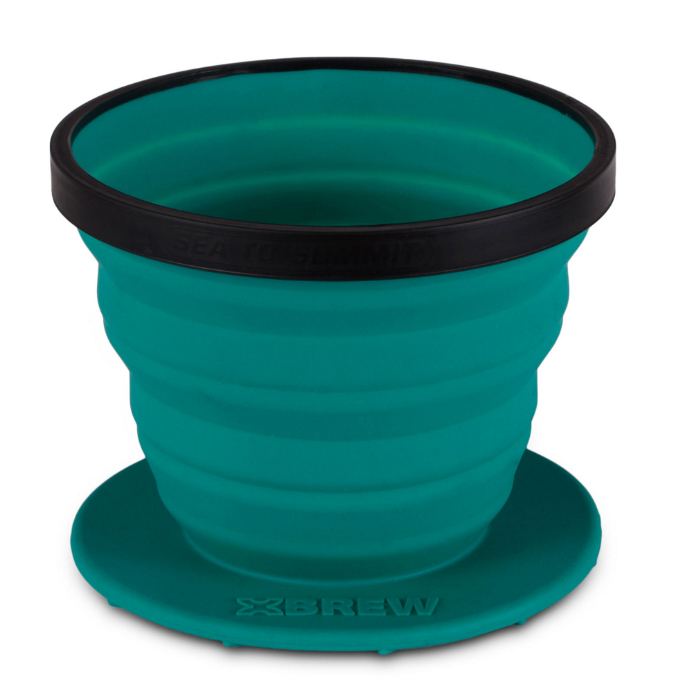 sea to summit x-brew coffee dripper 2017- Save 25% Off - The Sea to Summit X-Brew Coffee Dripper is a collapsible coffee dripper that comes with a reusable mesh filter.  This dripper has a compact size and two cup capacity that makes it the perfect solution for a quick brew before you hit the trails or the crag.  The X-Brew will fit nicely inside the X-Kettle for a complete outside coffee kit.  2 Cup Capacity,  Filter Mesh is Super Fine with 180 Micron Holes,  Spiral Pattern to Break Surface Tension,  4.3in Base that Fits Most Mugs and Cups,  Fits inside X-Pot Kettle,  Category: Cups, Use: Both Backpacking and Car Camping, Weight: 2.9oz, Collapsible: Yes, Model Year: 2017, Product ID: 476591, Model Number: 101-32, GTIN: 9327868067343