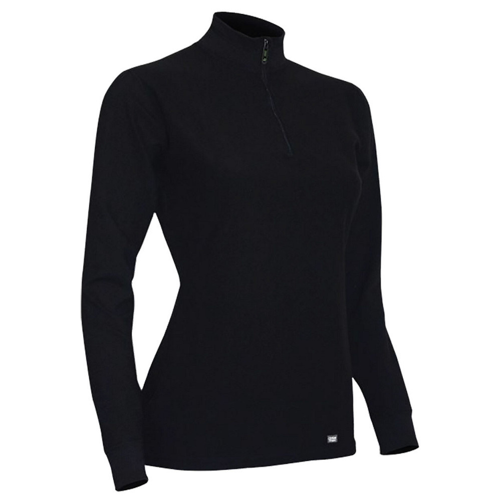 PolarMax Quattro Fleece Zip Mock Womens Long Underwear Top