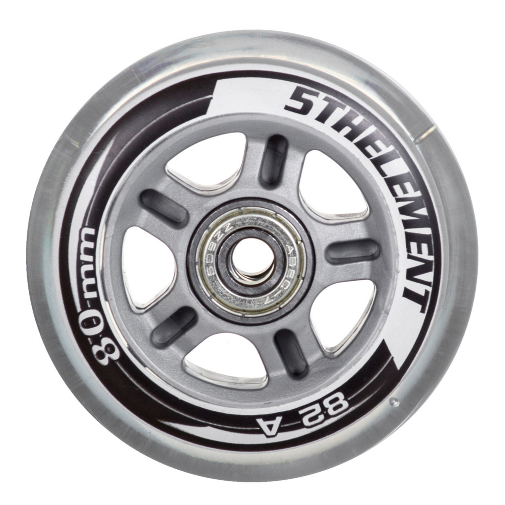 Image of 5th Element 80mm - 8 Pack Inline Skate Wheels with ABEC-7 Bearings 2019