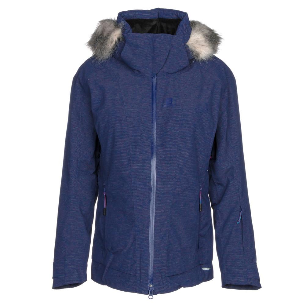 Salomon Weekend + w/ Faux Fur Womens Insulated Ski Jacket