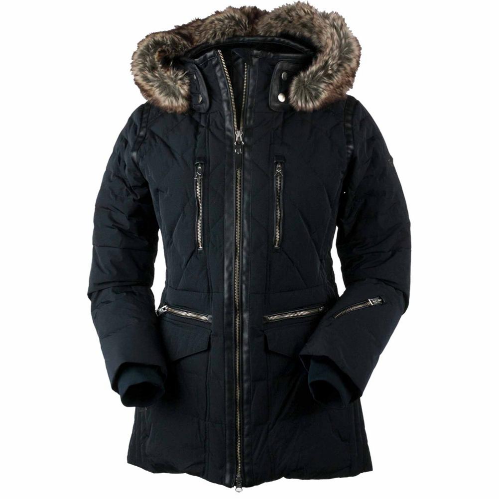 Obermeyer Blythe Down w/Faux Fur - Petite Womens Insulated Ski Jacket