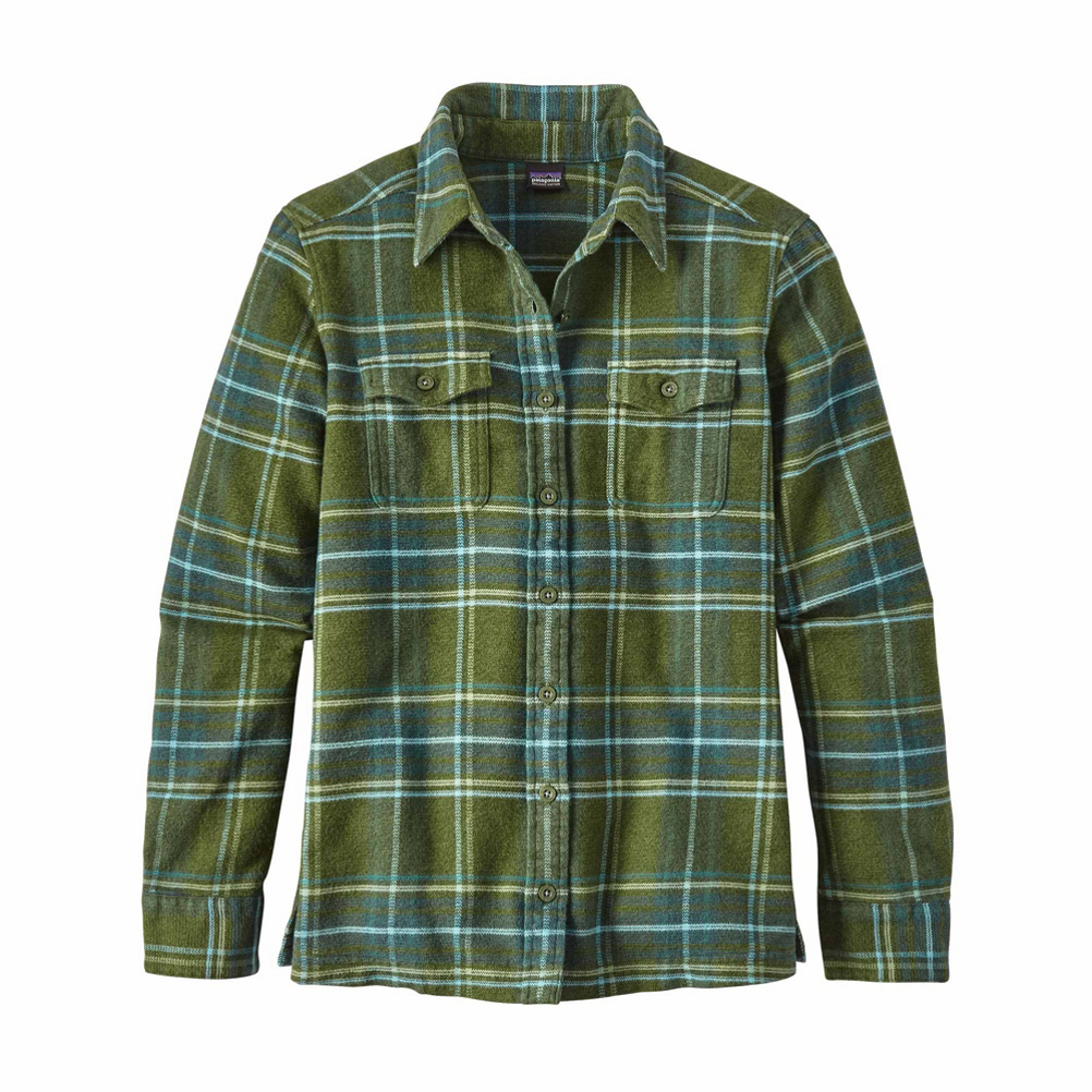 Patagonia Long Sleeved Fjord Womens Flannel Shirt