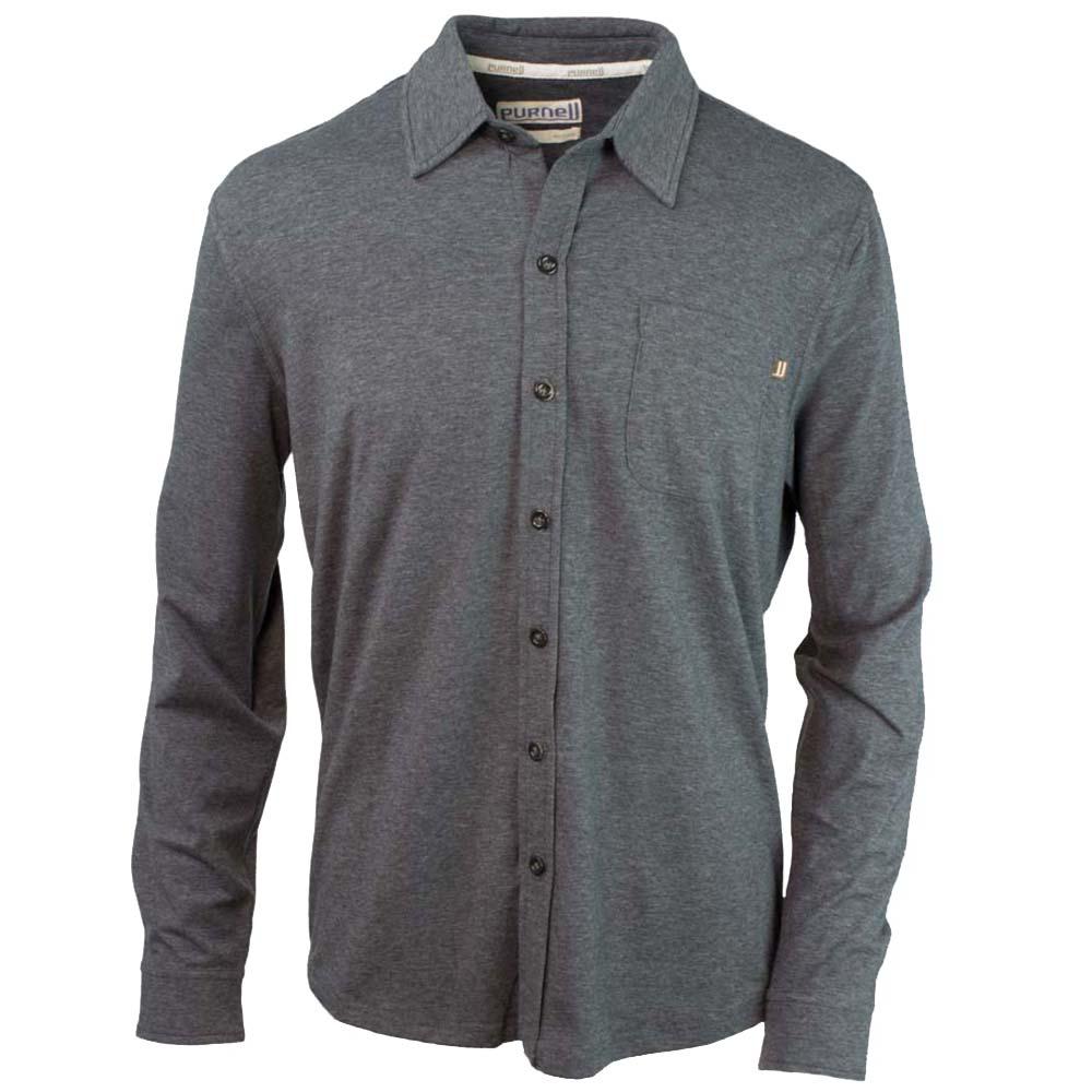 Purnell Jersey Knit Button-Up Mens Shirt 499724999