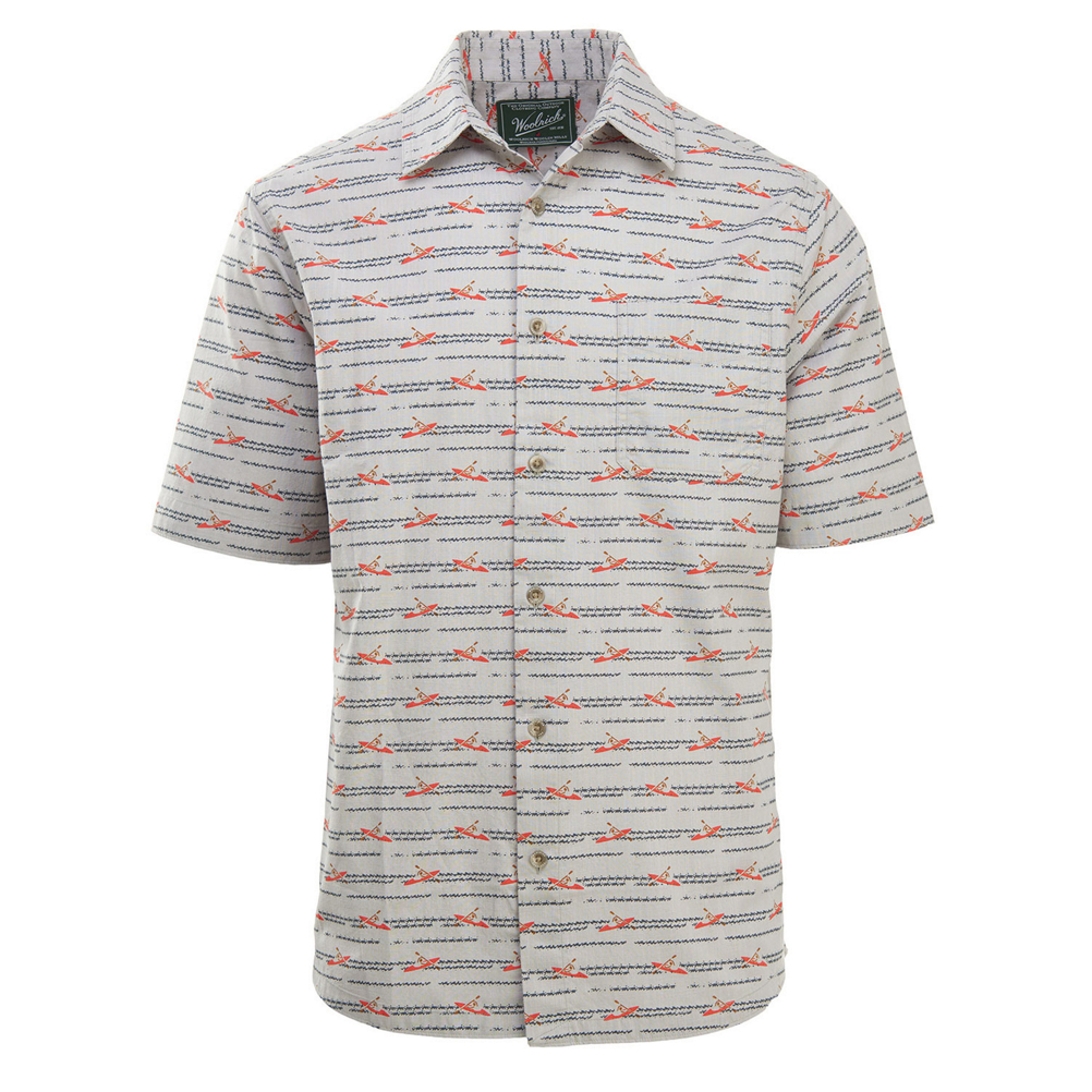 Woolrich Eco Rich Walnut Springs Printed Ripstop Mens Shirt