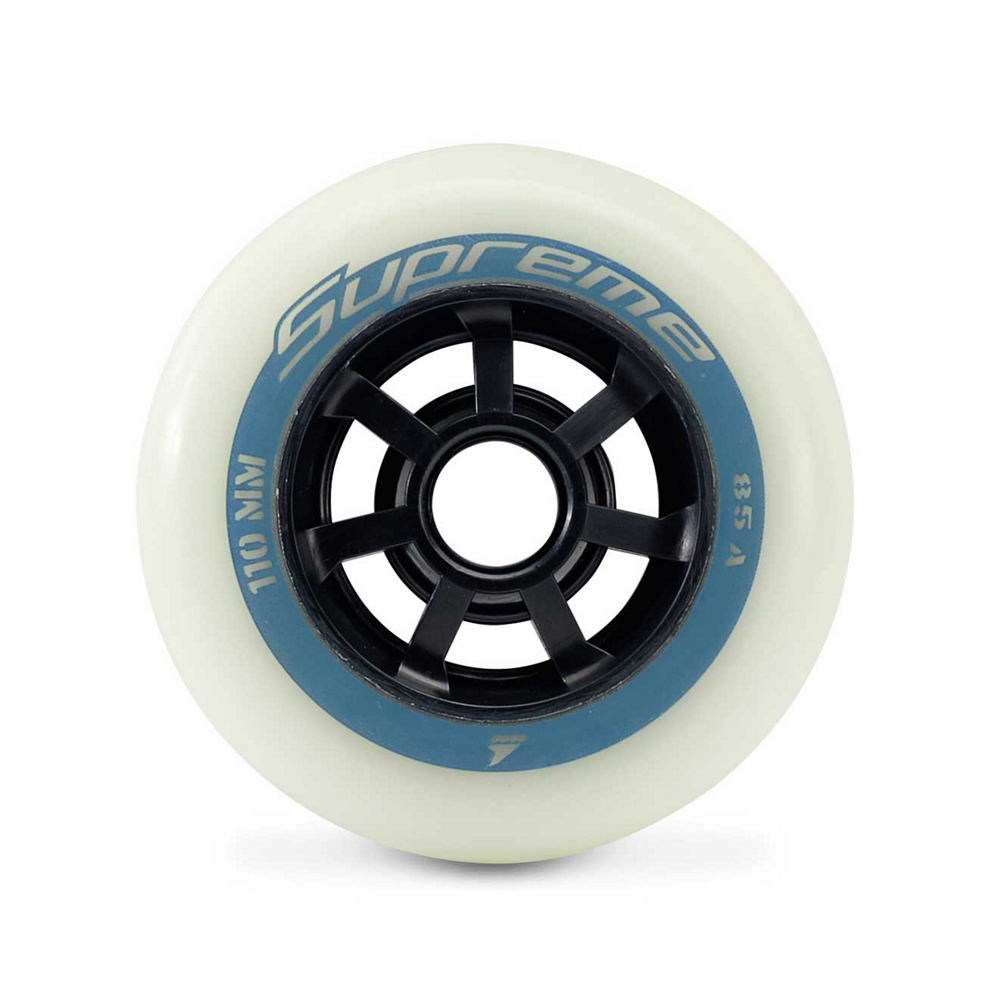 Rollerblade Supreme Glow 110mm 85A Inline Skate Wheels - 6 Pack 2020