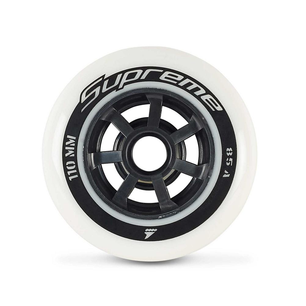 Rollerblade Supreme 110mm 85A Inline Skate Wheels - 8 Pack