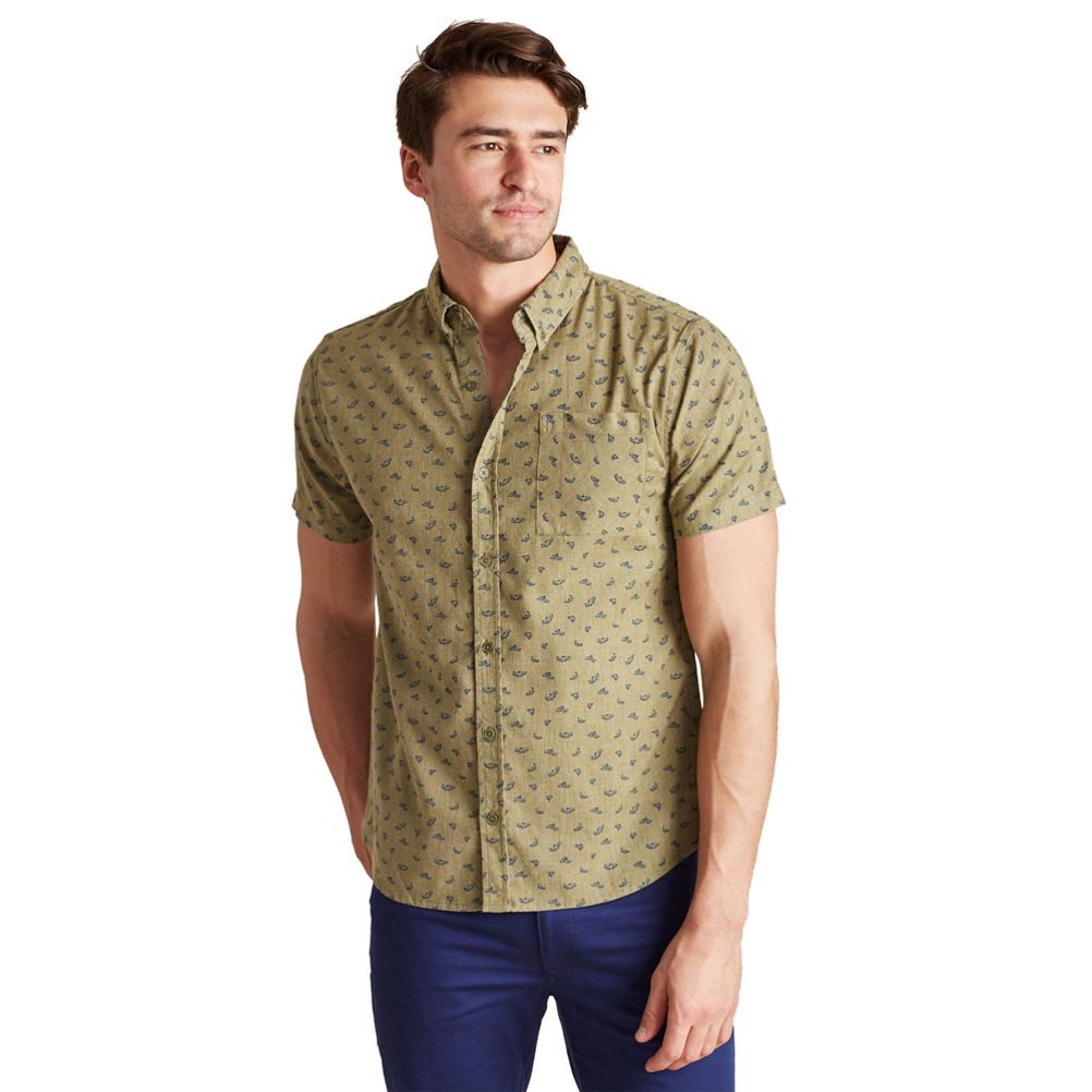United By Blue Upstream Print Button Down Mens Shirt