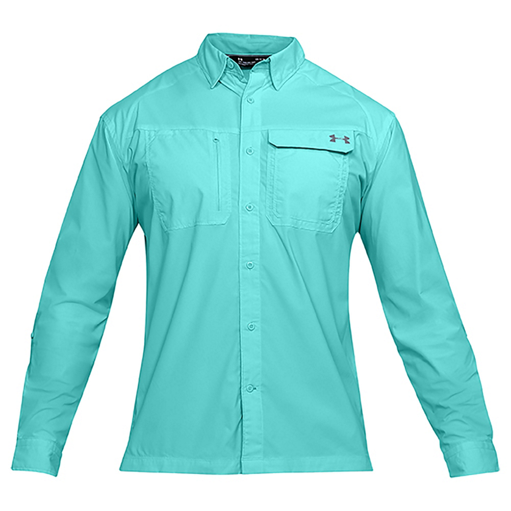 Under Armour Fish Hunter Long Sleeve Solid Mens Shirt 505756999