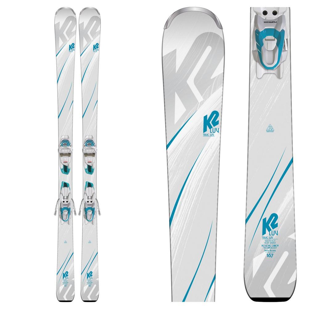 K2 True Luv Womens Skis with ER3 10 TCX Bindings 2019