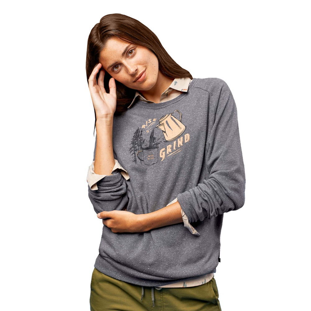 United By Blue Rise and Grind Crew Womens Pullover Sweatshirt