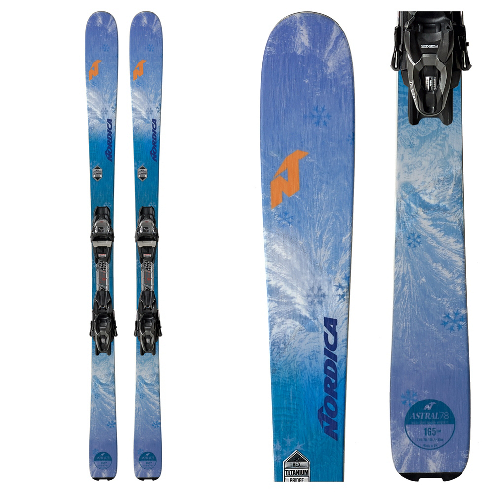 Nordica Astral 78 CA Womens Skis with TP2 FDT Bindings 2019