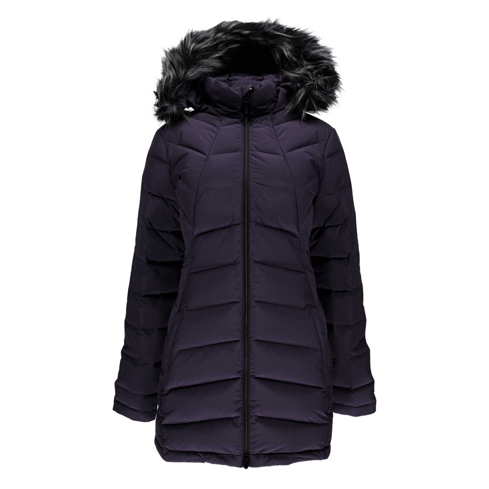 Spyder Syrround Long Faux Fur Down Womens Jacket