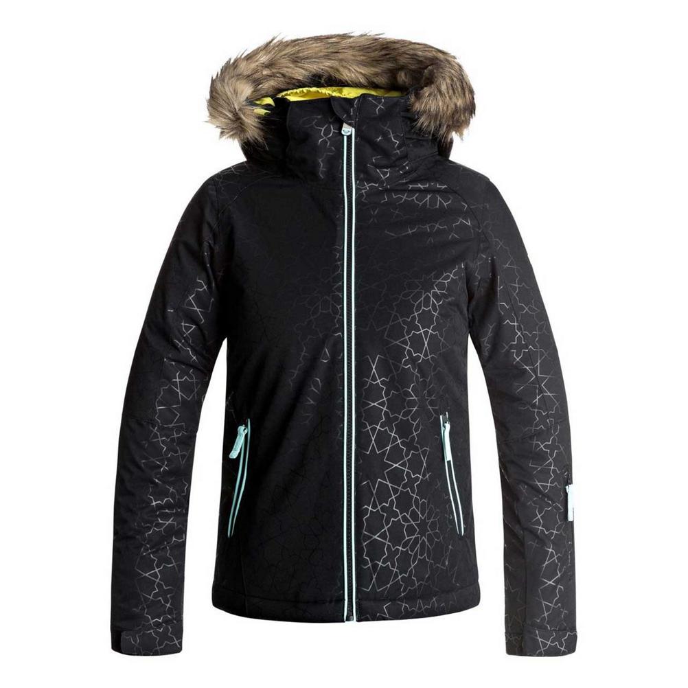 Roxy American Pie Solid w/Faux Fur Girls Snowboard Jacket