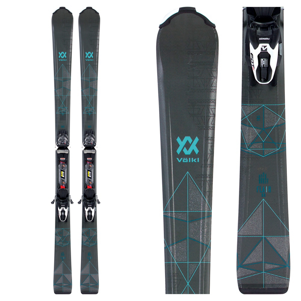 Volkl Flair 8.0 Womens Skis with FDT TP 10 Bindings 2019