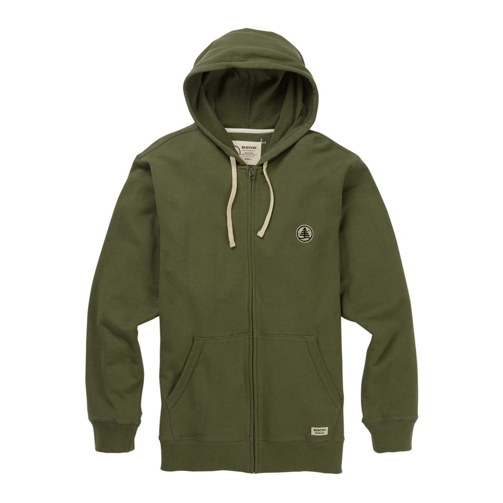Burton Family Tree Organic Full Zip Mens Hoodie
