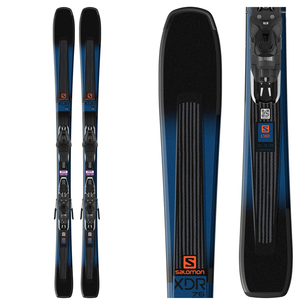 Salomon XDR 76 ST Skis with Lithium 10 Bindings 2019