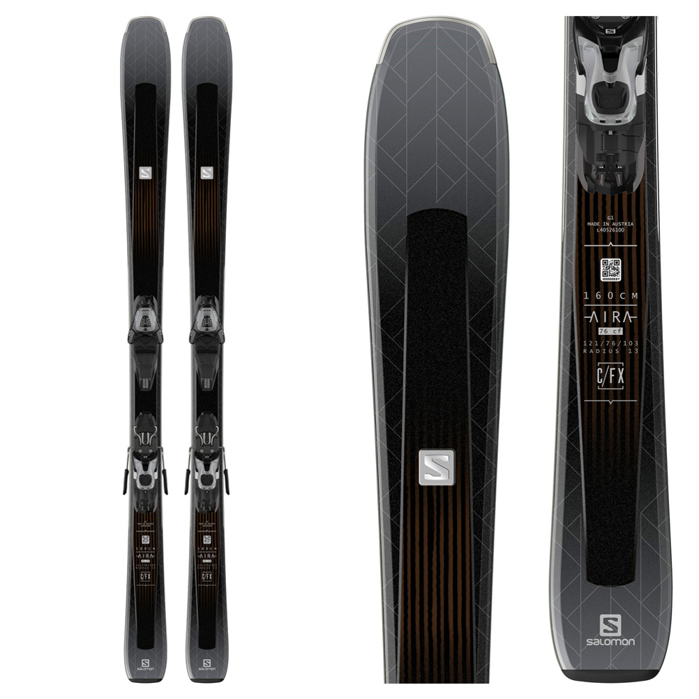 Salomon Aira 76 CF Womens Skis with Lithium 10 Bindings 2019