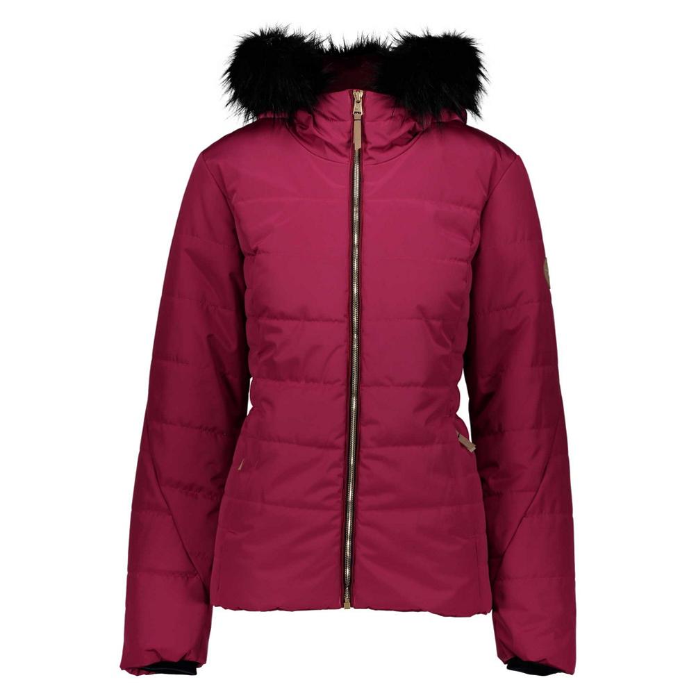 Obermeyer Beau Faux Fur Petite Womens Insulated Ski Jacket