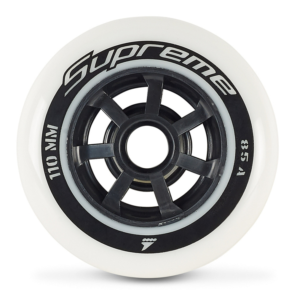 Rollerblade Supreme 110mm/85A Inline Skate Wheels - 6 Pack 2019