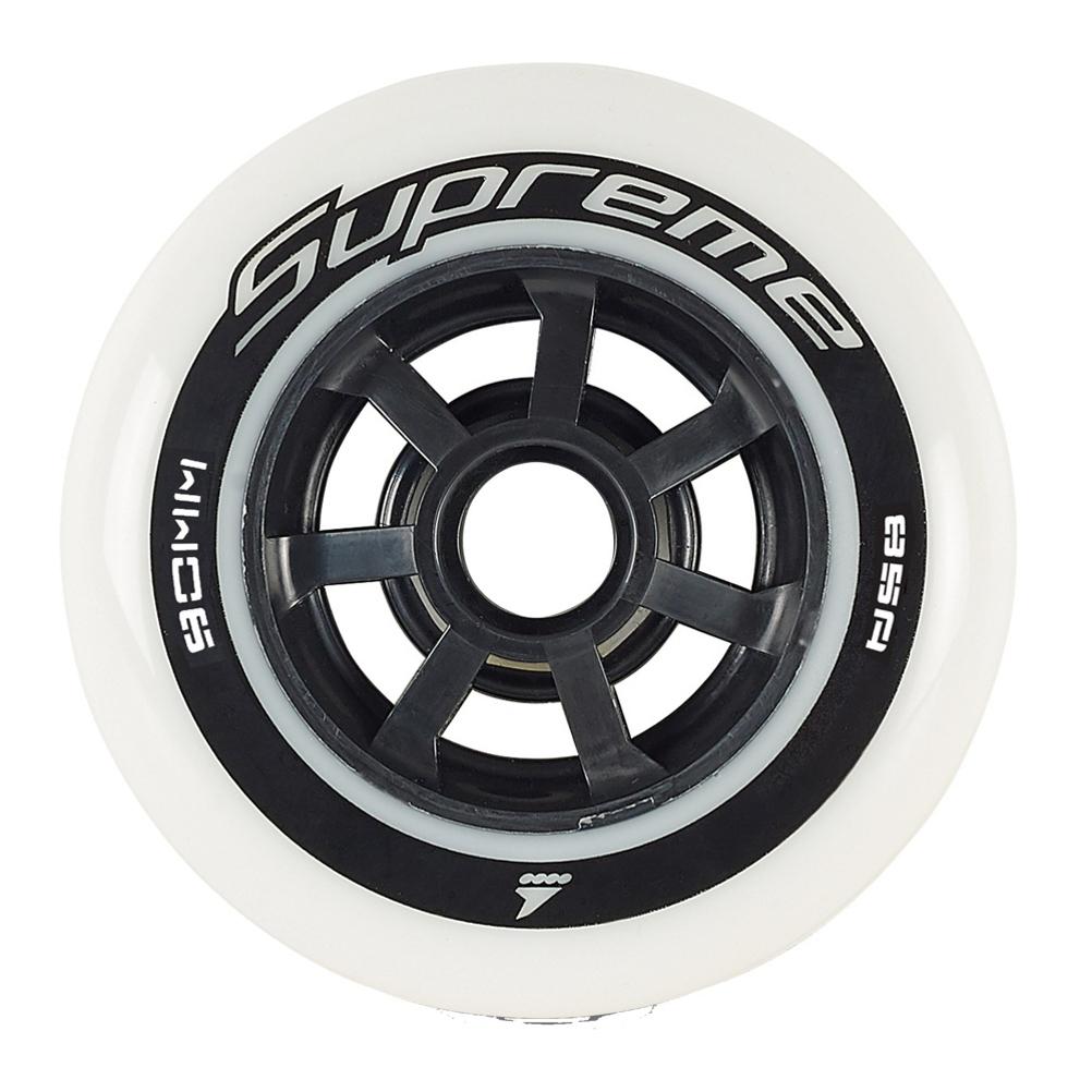 Rollerblade Supreme 90mm/85A Inline Skate Wheels - 8 Pack 2019